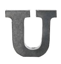 Bogstav U 5,5 cm - Zink
