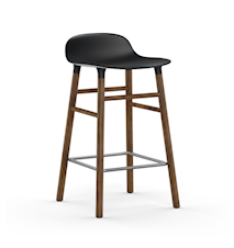 Form bar stool walnut legs 65cm