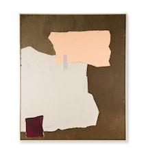 Abstract Målning Mustard/nude 100x120cm