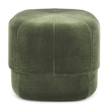 Circus pouf sittepuff velour small - Dark green