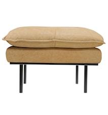 Retro Sofa Læder Hocker Beige