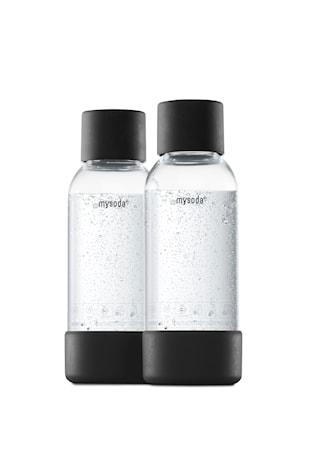 Bilde av 0,5 L Flaske 2-pakning Svart
