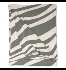 Pledd Zebra 130 x 170 cm - Titanium