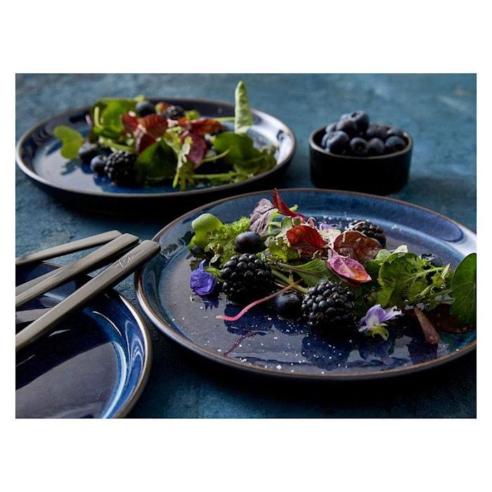 Gastro lautanen Ø 21 cm musta/tummansininen