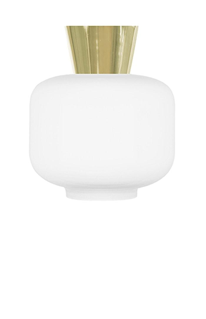 Taglampe Ritz Hvid / Messing