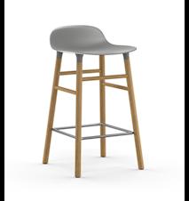 Form Barstol Grå/Ek 65 cm