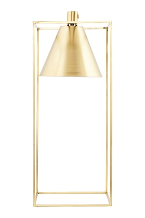 Bordslampa Kubix 18x18cm Mässing/vit