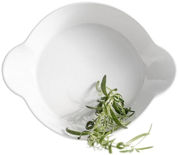 Piccadilly rund form ovnsikker, hvit
