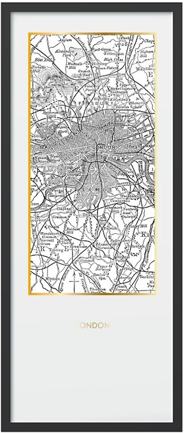 Framed print London – 50x120