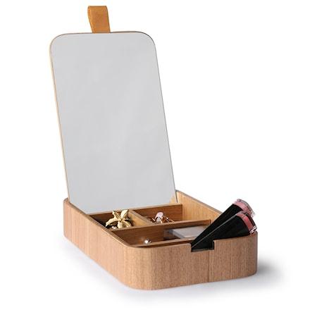 Trä Sminkspegel Låda  23x13x3,5 cm