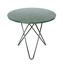 Dining O-table - Grön marmor, svart underrede