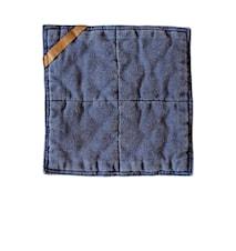 Grytlapp  25x25 cm blå