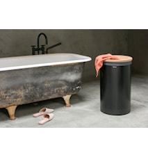 Tvättkorg med korklock 60 L Svart