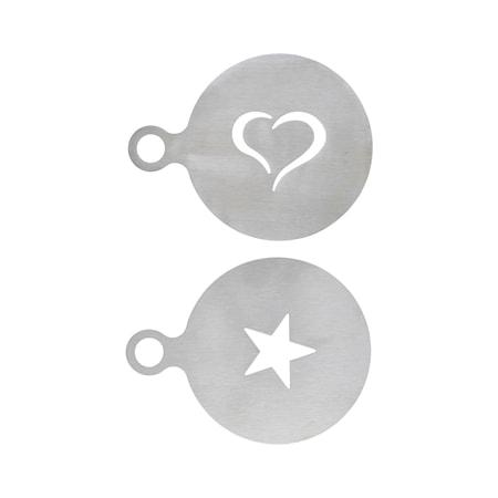 Kaffedekoration Silver Rostfrittstål Set med 2 designer
