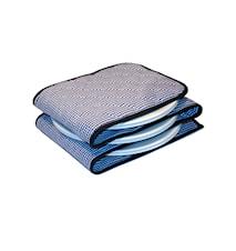 Tellerwärmer 3-12Teller blau/weiß