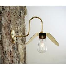 Hali swan væglampe - Polished brass