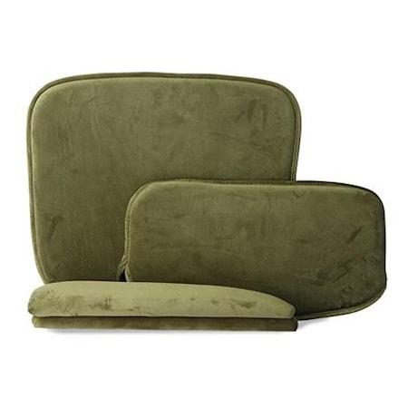 Kuddar för Wire stol med armstöd Sammet Grön
