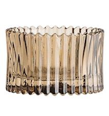 Ljuslykta Glas Brun 7x4,5