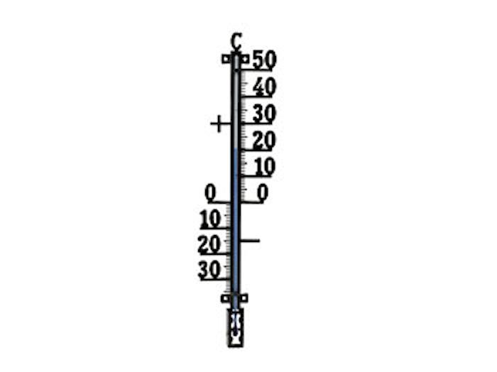 Utetermometer 44cm 424 Plus Svart
