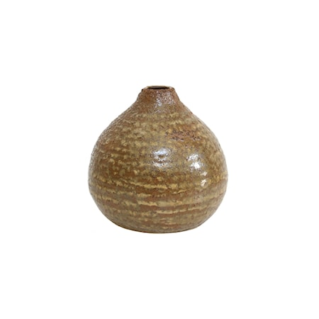 Vase i Keramikk Brun
