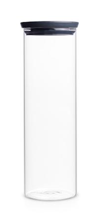 Glasbeholder Stabelbar 1.9 Ltr Glas/Gråt låg