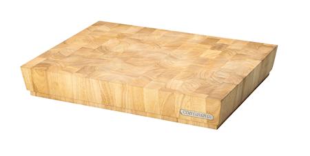 Skærebræt, gummitræ, 40x30x7,3 cm