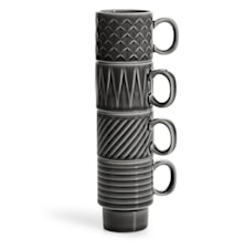 Coffee & More Gløgg/Espresso Kopp Grå 4-pk