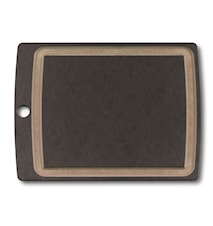 Allrounder Cutting Board M, black with juice groove