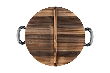 Stekgryta i gjutjärn med trälock 30 cm