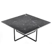 Ninety soffbord - Svart marmor/svartlackerad metallstomme