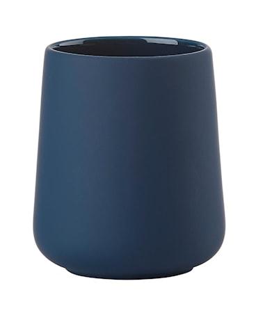 Nova one Tandborstmugg Stengods 8x10 cm Royal blue