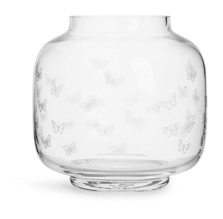 Butterfly Vas 19 cm Klar