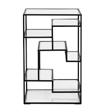 Bokhylle/Display med Glasshyller 71x46cm