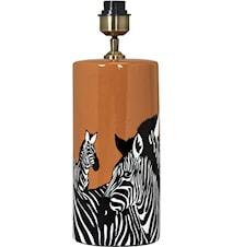Zebra Lampfot 42cm Orange 42cm
