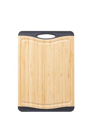 Cora Skärbräda bambo svarta silikon kanter non-slip 39,5,28,1,6 cm