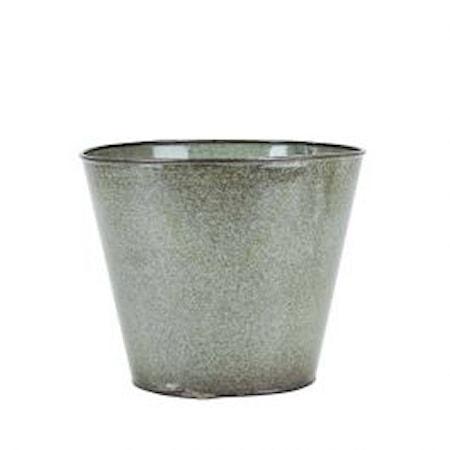Kruka Metall Grön 17×20 cm