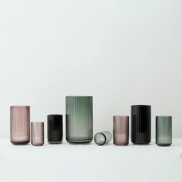 Vase Pustet Glas Copenhagen Green 12,5 cm