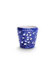 Spets Fyrfadsstage Blå 7 cm