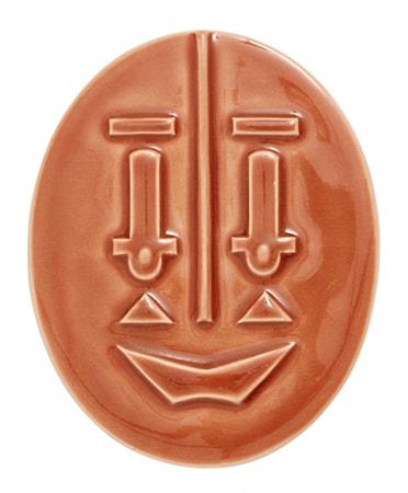 ANSIKT Veggdekorasjon Keramikk 15cm Terracotta farget