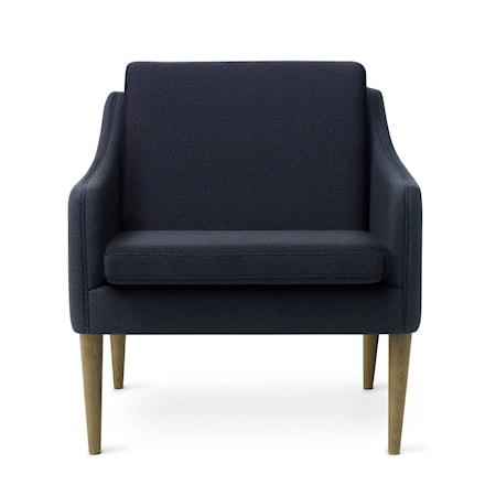 Mr. Olsen Lounge Chair Midnight Blue Smoked Ek