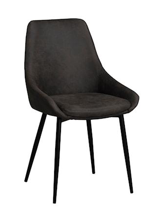 Sierra stol mörkgrå/svarta metall ben