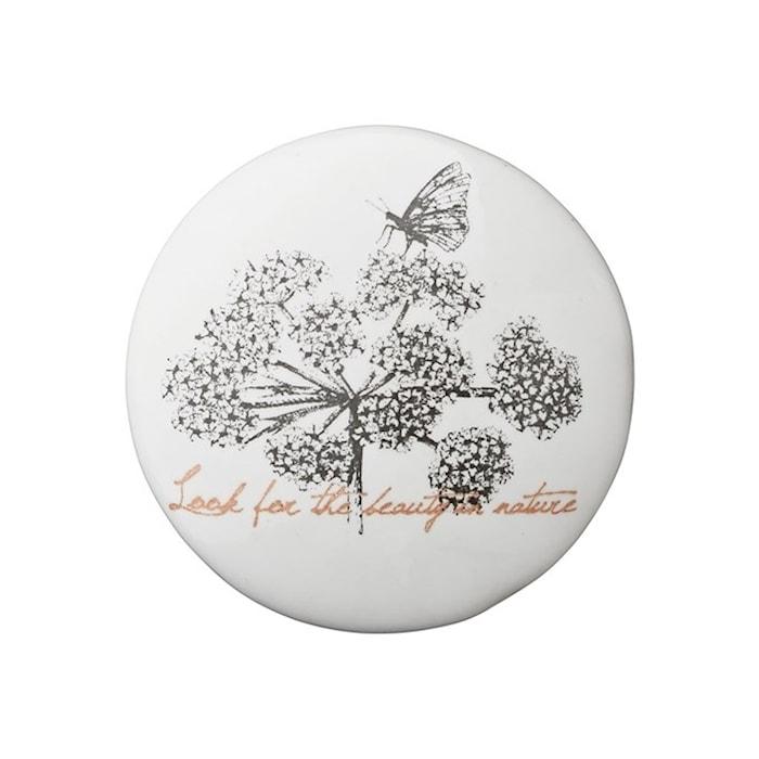 Nobilia Knopfgriff Ø4 cm - Schmetterling weiß