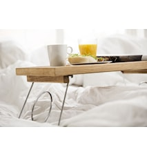 Morgenmadsbakke med sammenklappelige ben Oval Oak