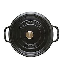 Pyöreä Pata 24 cm. 3,8 L Musta