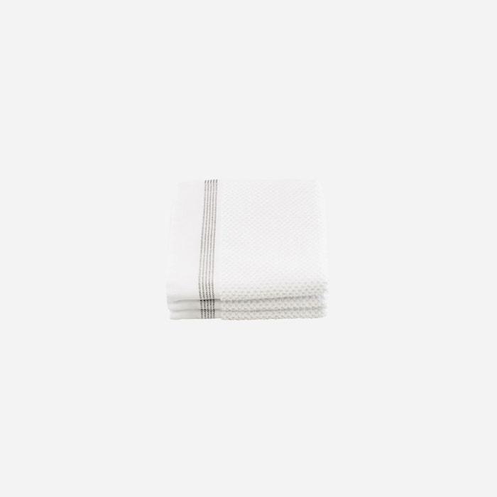 Wash cloth Valkoinen Harmailla raidoilla 2-pakkaus 30x30 cm