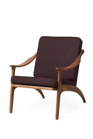 Lean Back Lounge Chair Coffee Brown Teak