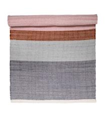 Teppe fler farger/stripete 120x60 cm