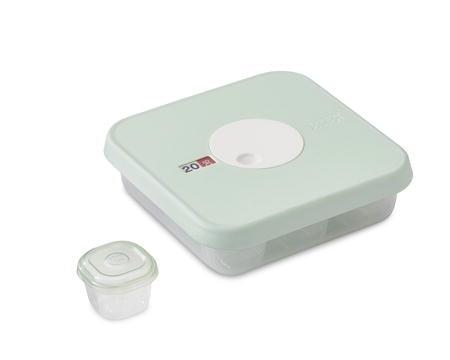 Dial Baby förvaringsbox-set 10 delar klar/mint - 17 cm