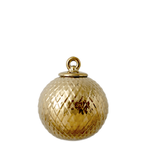 Rhombe Dekorationskugle Guld Ø7 cm