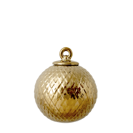 Rhombe Dekorationskula Guld Ø7 cm